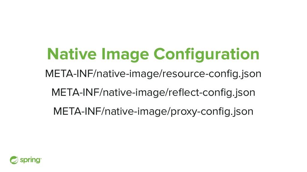 Native Image Configuration META-INF/native-image...