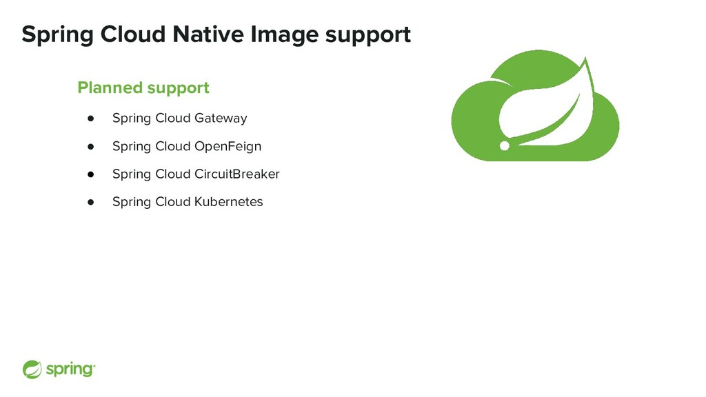 Spring Cloud Native Image support Planned suppo...