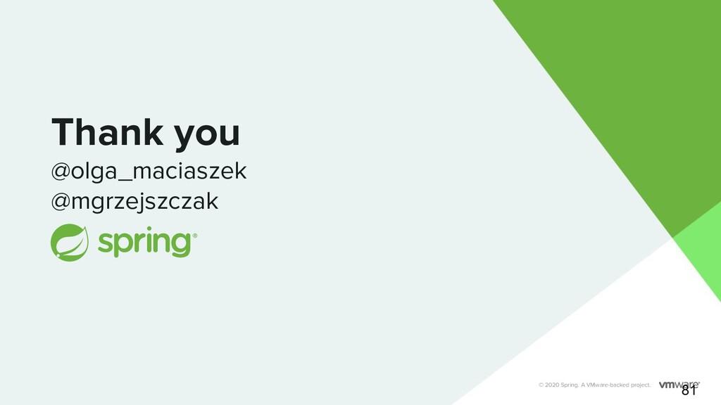 Thank you @olga_maciaszek @mgrzejszczak © 2020 ...