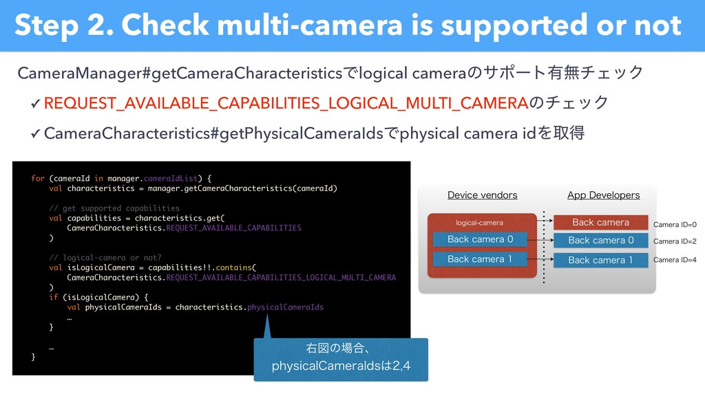 Step 2. Check multi-camera is supported or not ...