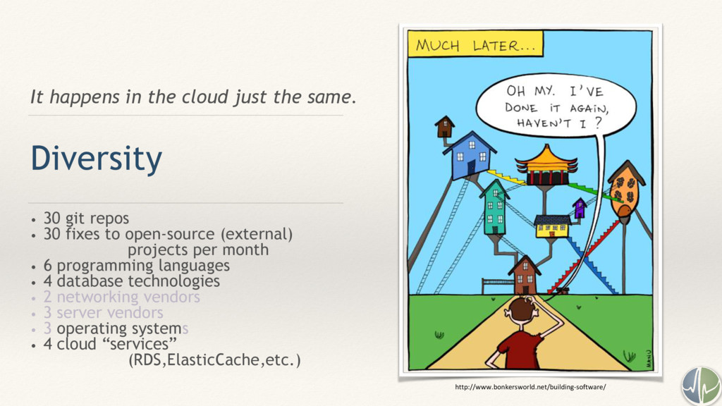 It happens in the cloud just the same. Diversit...