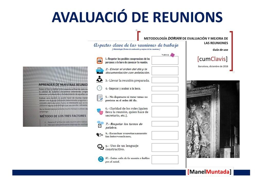 AVALUACIÓ DE REUNIONS