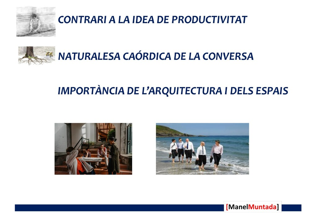 CONTRARI A LA IDEA DE PRODUCTIVITAT NATURALESA ...