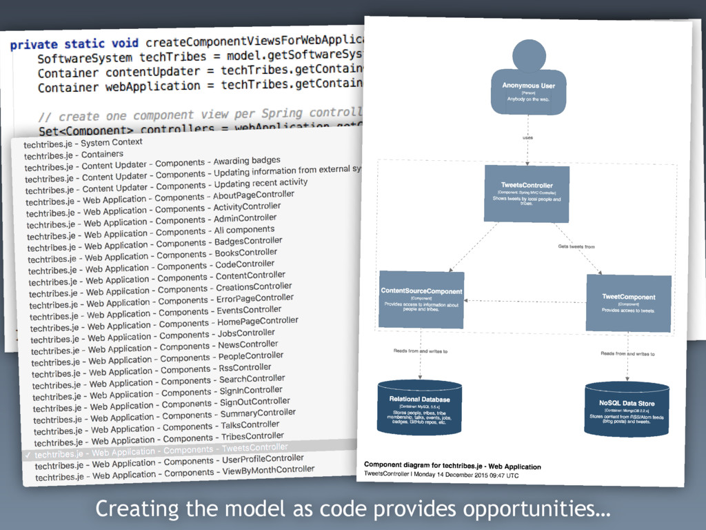 Creating the model as code provides opportuniti...