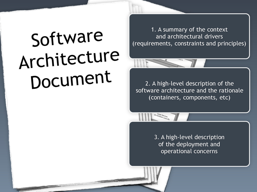 Software Architecture Document 1. A summary of ...