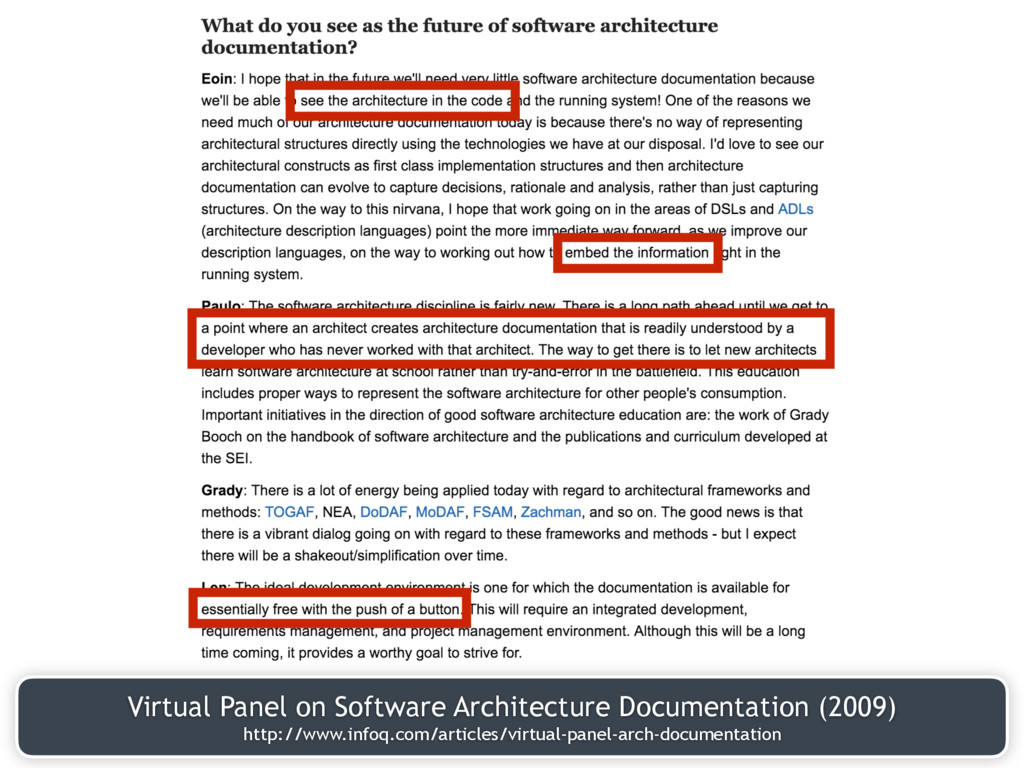 Virtual Panel on Software Architecture Document...