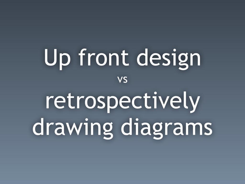 Up front design vs retrospectively drawing diag...