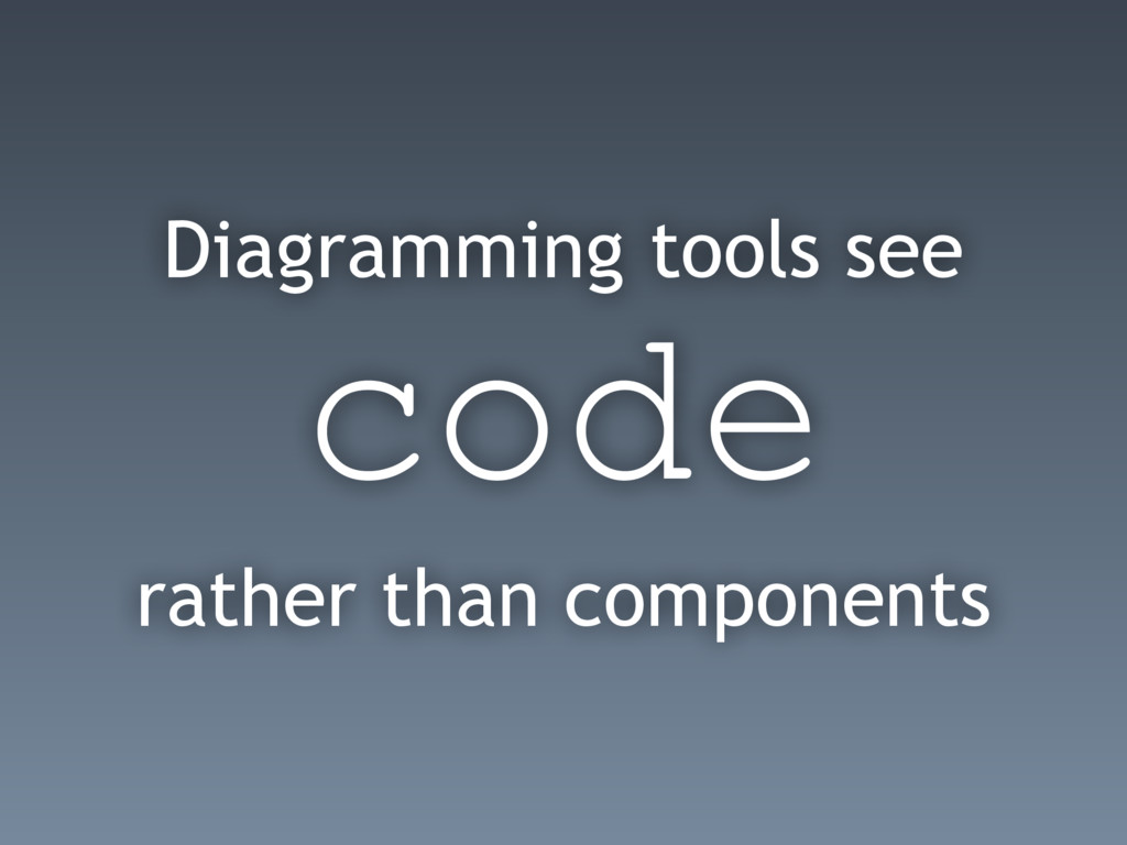 Diagramming tools see code rather than componen...