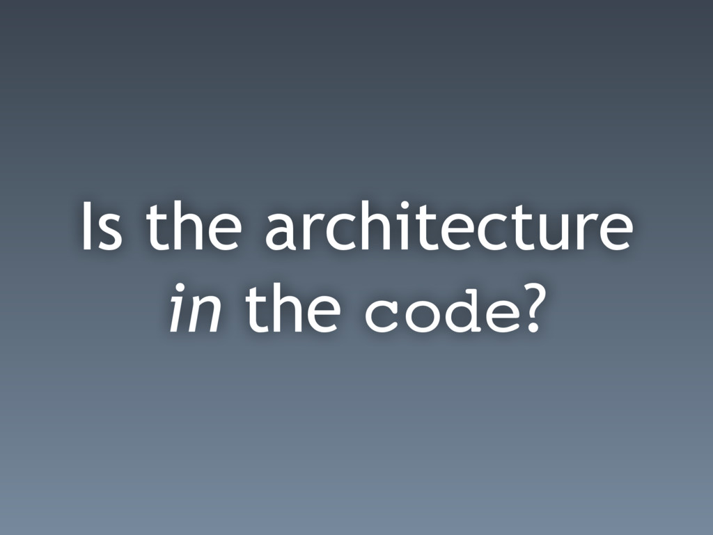 Is the architecture in the code?