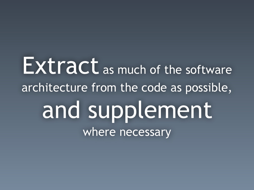 Extract as much of the software architecture fr...