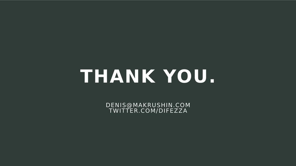 DENIS@MAKRUSHIN.COM TWITTER.COM/DIFEZZA THANK Y...