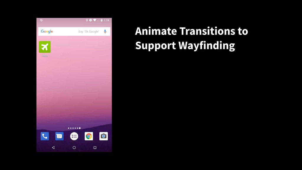 Animate Transitions to Support Wayfinding
