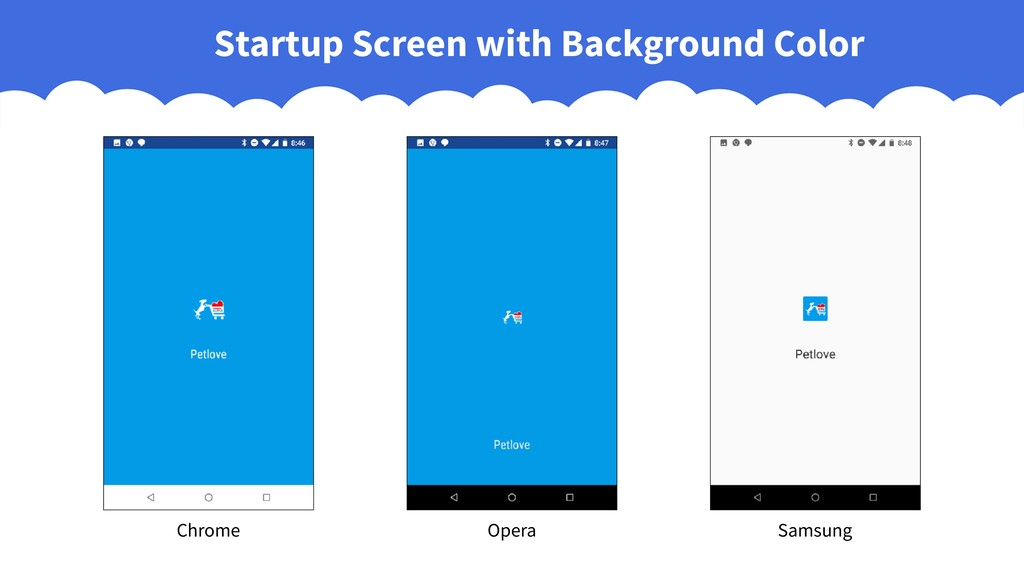 Startup Screen with Background Color Chrome Ope...