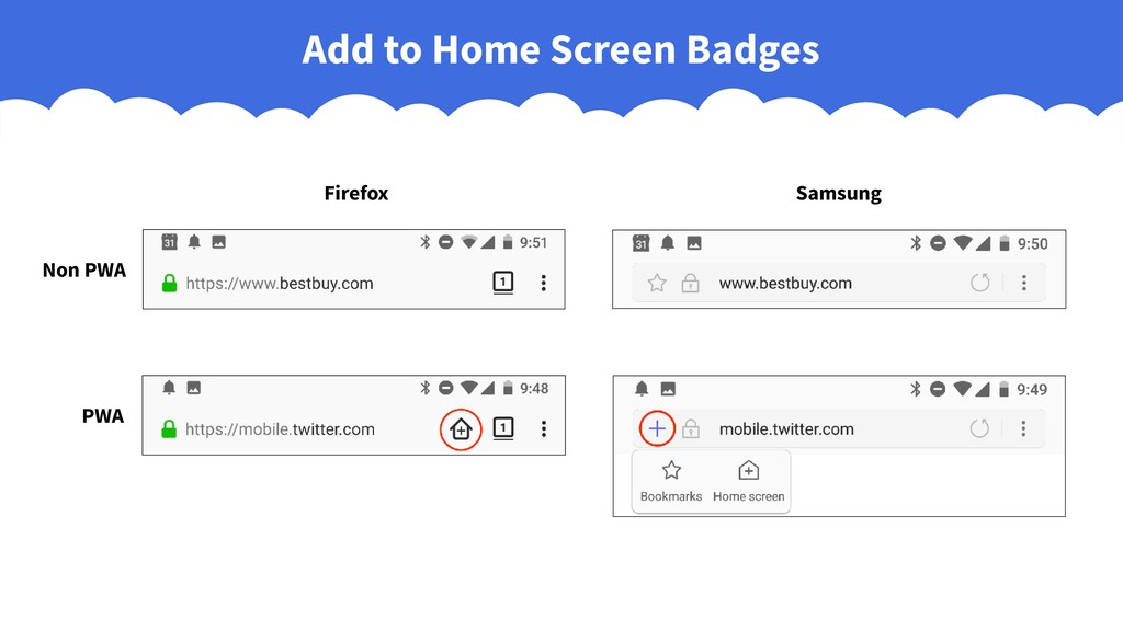 Add to Home Screen Badges Firefox Samsung Non P...
