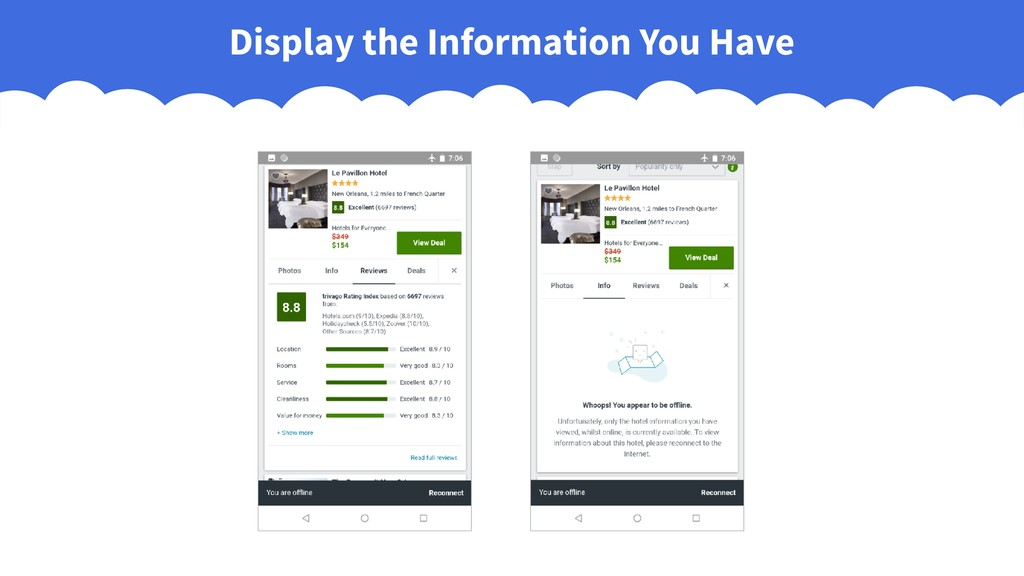 Display the Information You Have