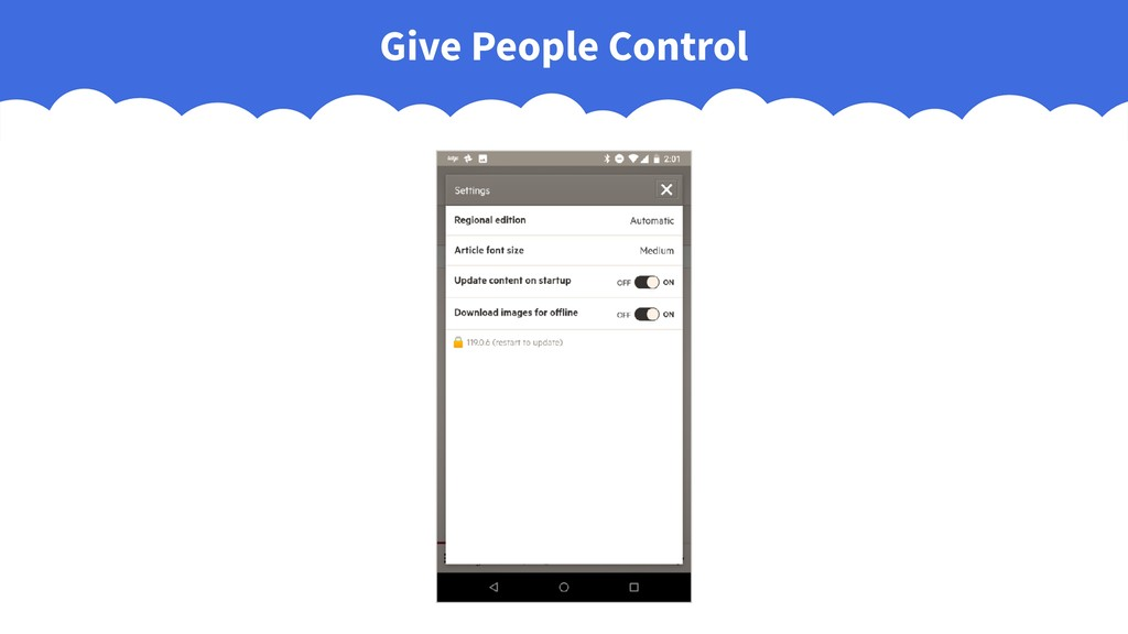 Give People Control