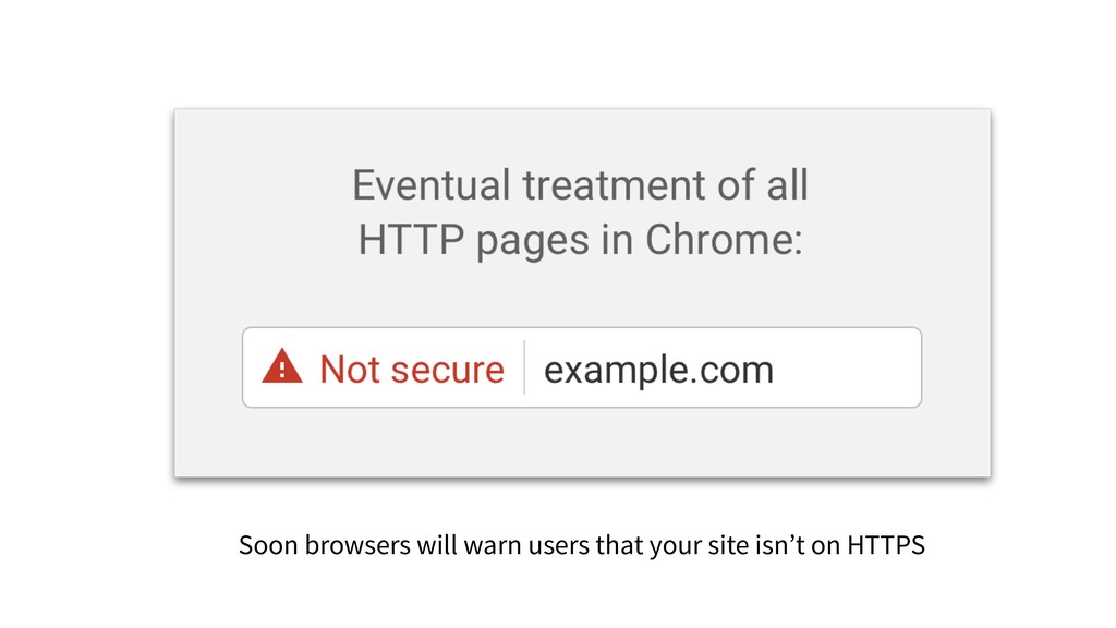 Soon browsers will warn users that your site is...