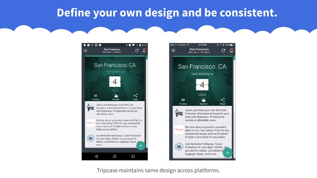 Define your own design and be consistent. Tripc...