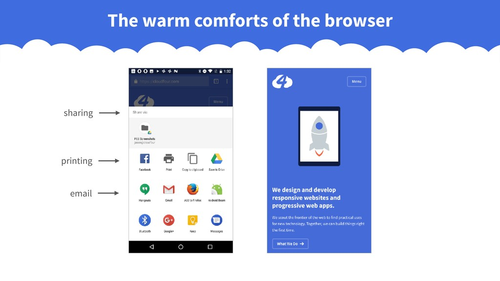 The warm comforts of the browser sharing printi...