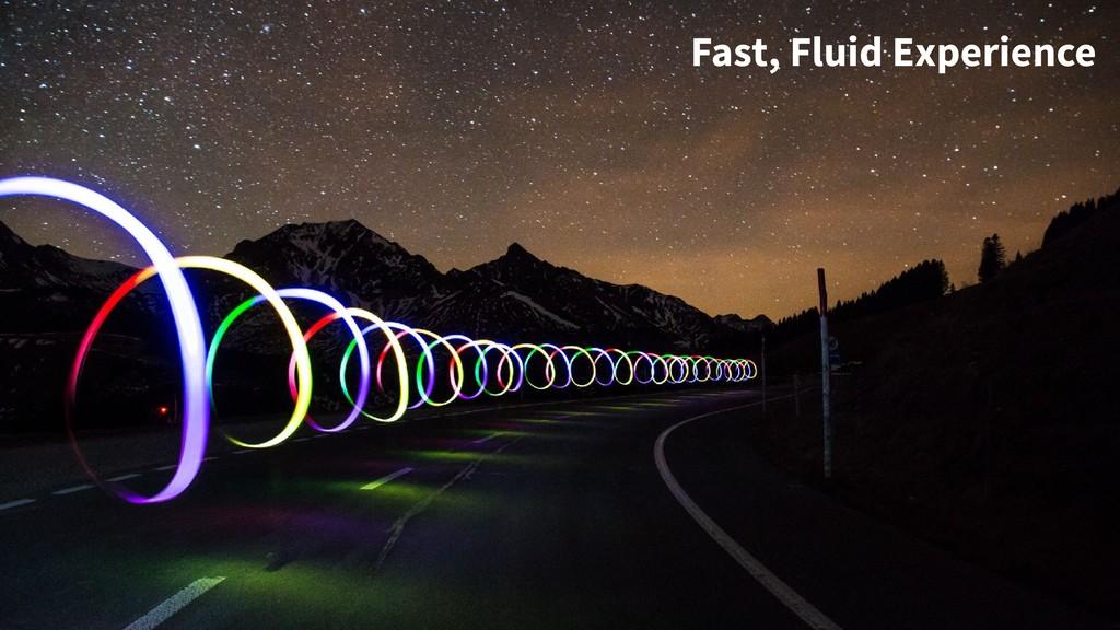 Fast, Fluid Experience