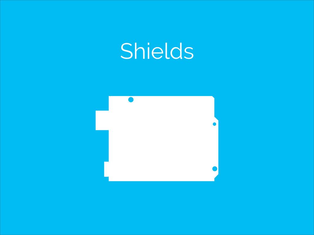 Shields SCL SDA AREF GND IOREF RESET 3V3 PWM PW...
