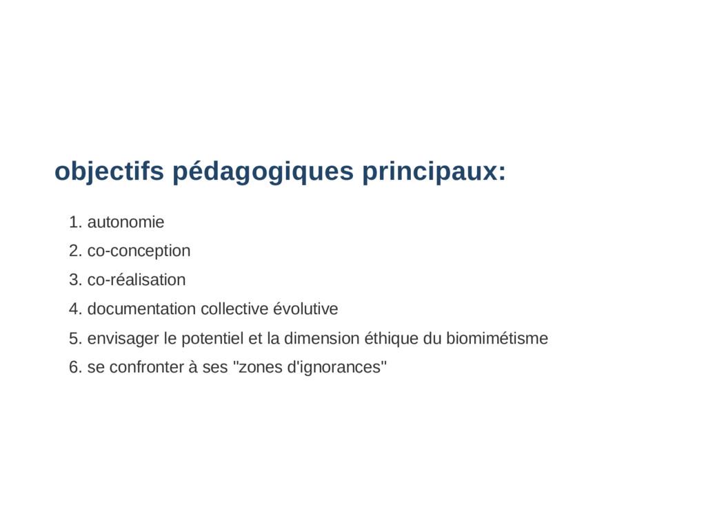 objectifs pédagogiques principaux: 1. autonomie...