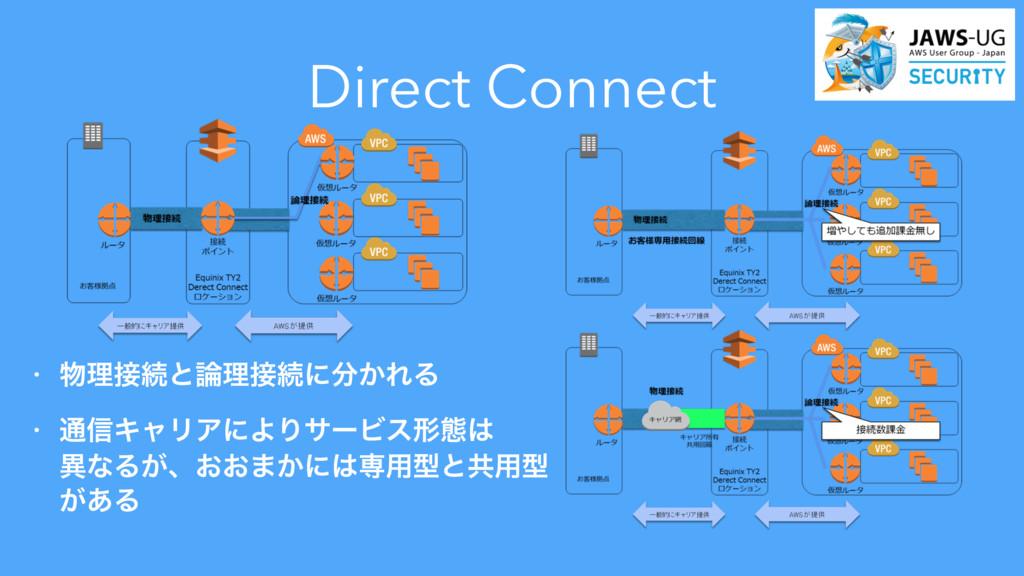 Direct Connect • ཧଓͱཧଓʹ͔ΕΔ • ௨৴ΩϟϦΞʹΑΓαʔϏε...