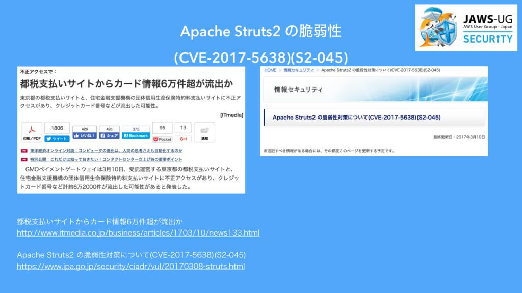 Apache Struts2 ͷ੬ऑੑ (CVE-2017-5638)(S2-045) ੫...
