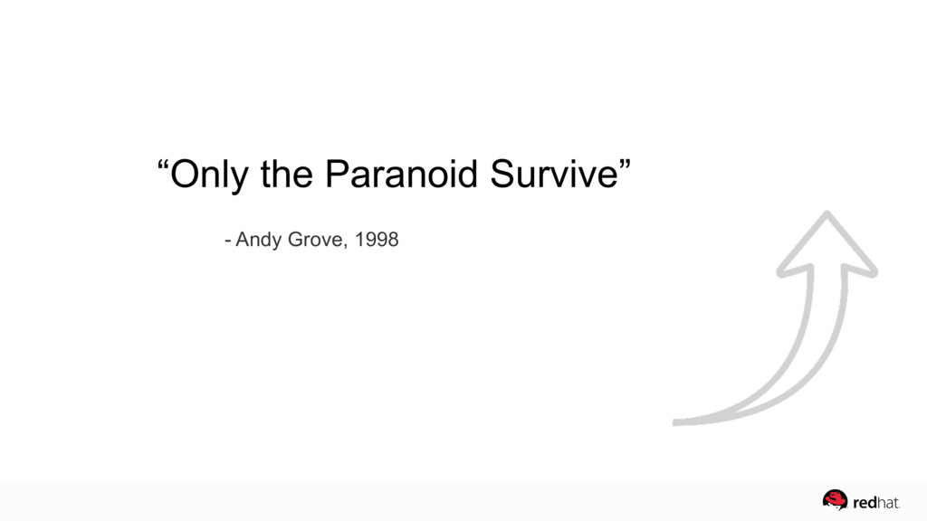 """""""Only the Paranoid Survive"""" - Andy Grove, 1998"""