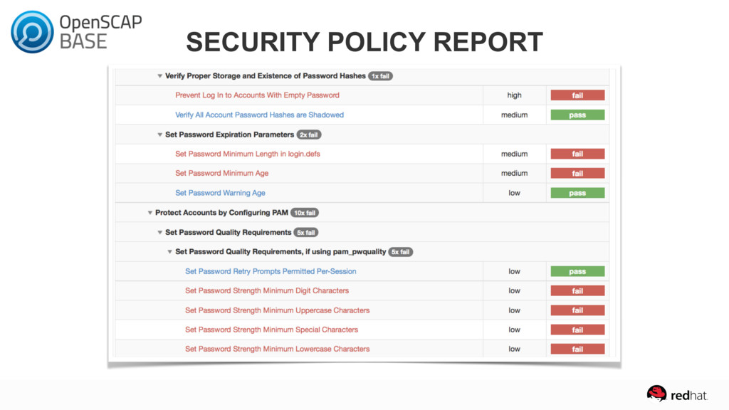 SECURITY POLICY REPORT