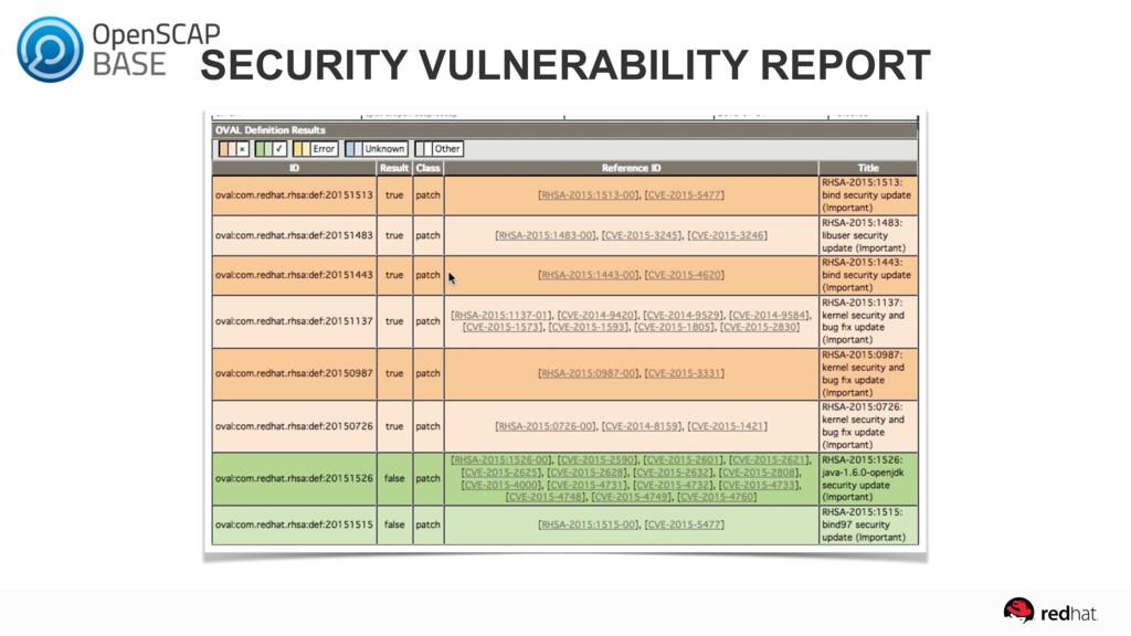 SECURITY VULNERABILITY REPORT