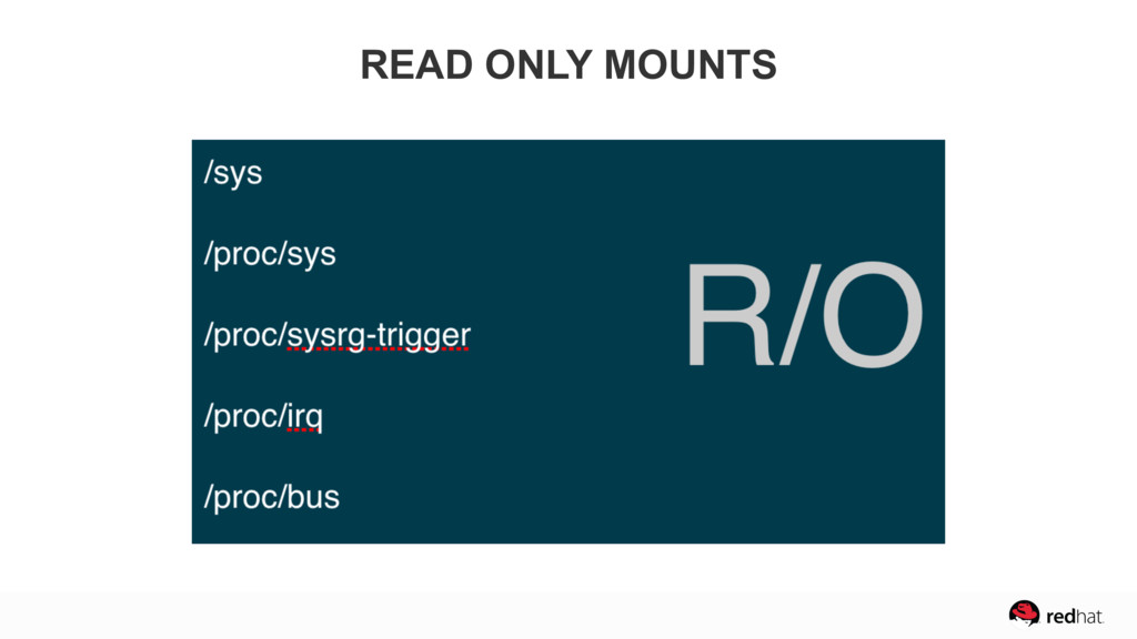 READ ONLY MOUNTS