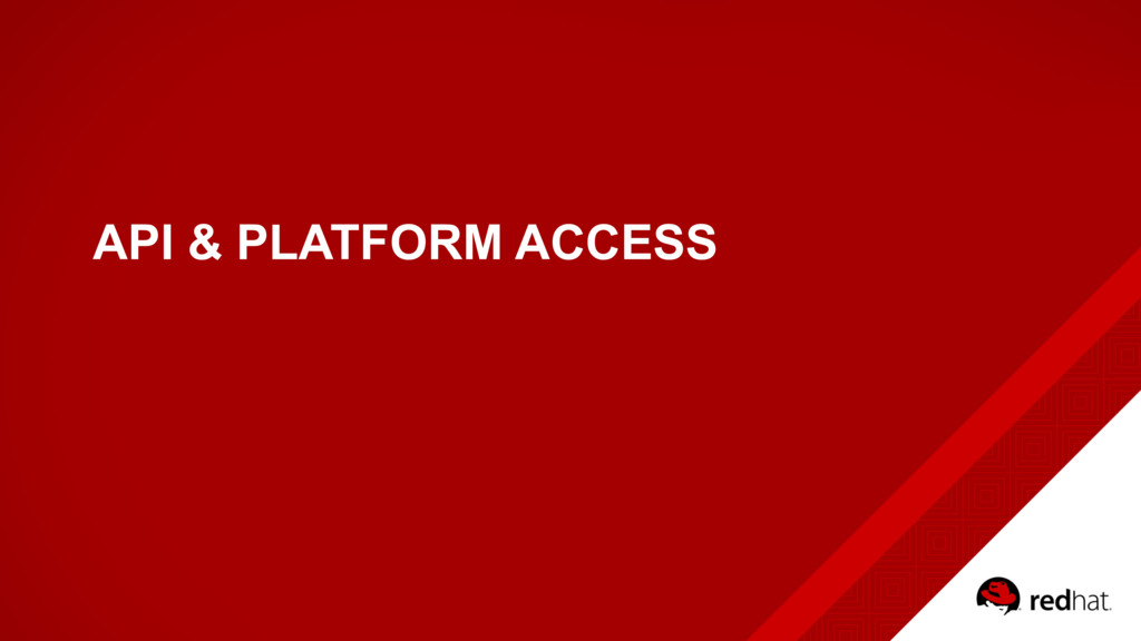 API & PLATFORM ACCESS