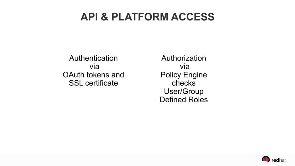 Authentication via OAuth tokens and SSL certifi...