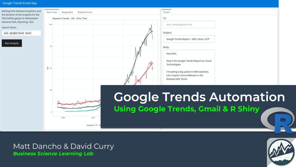 Using Google Trends, Gmail & R Shiny Matt Danch...