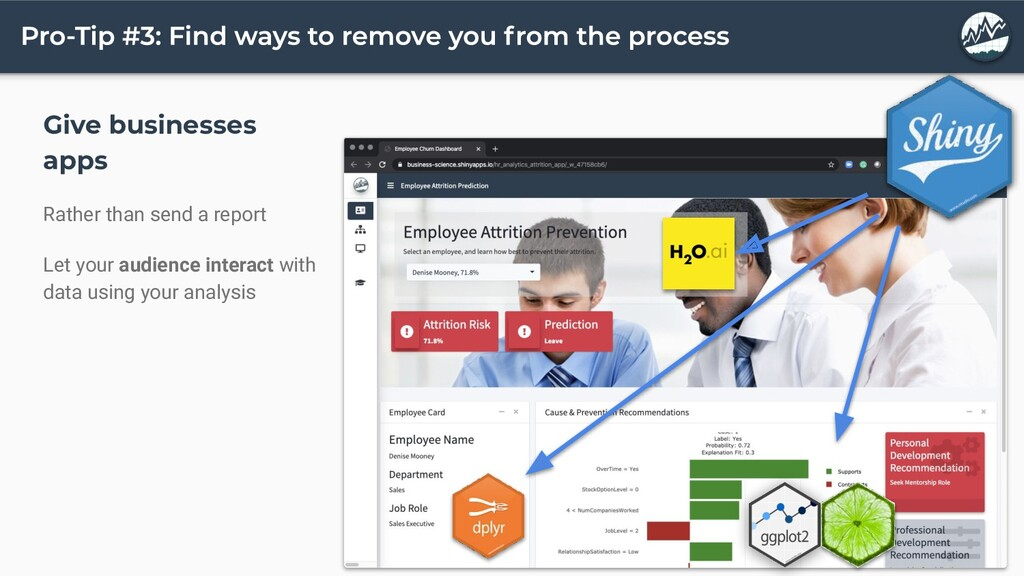 Give businesses apps Rather than send a report ...