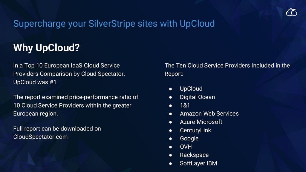 Supercharge your SilverStripe sites with UpClou...