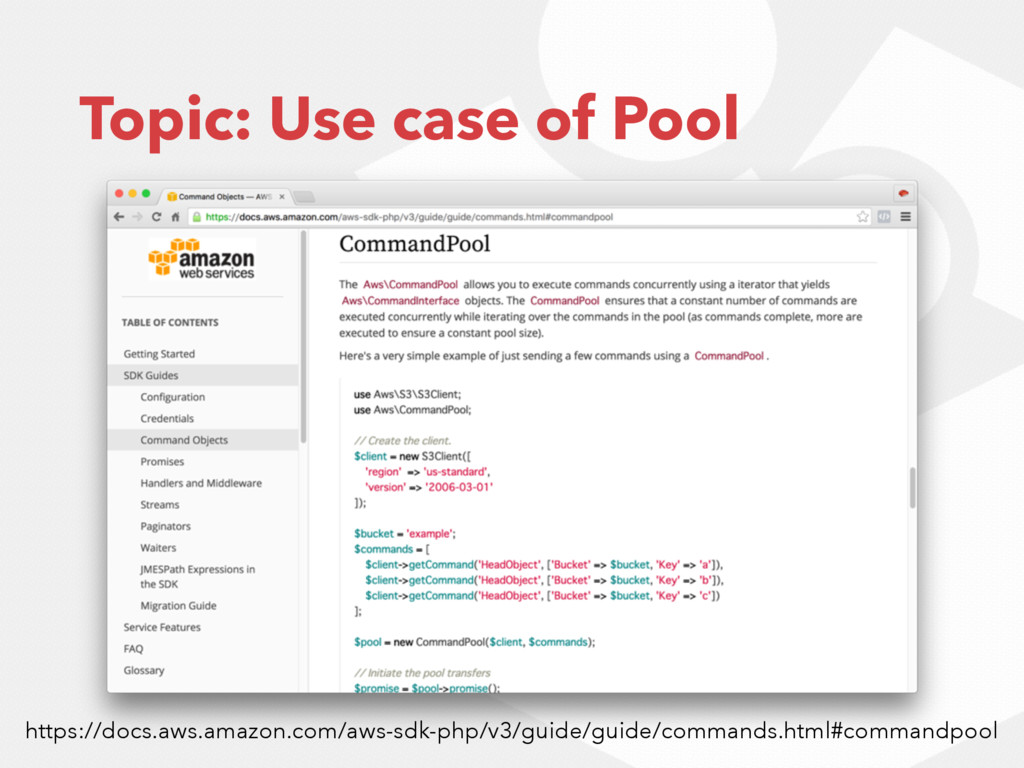 Topic: Use case of Pool https://docs.aws.amazon...