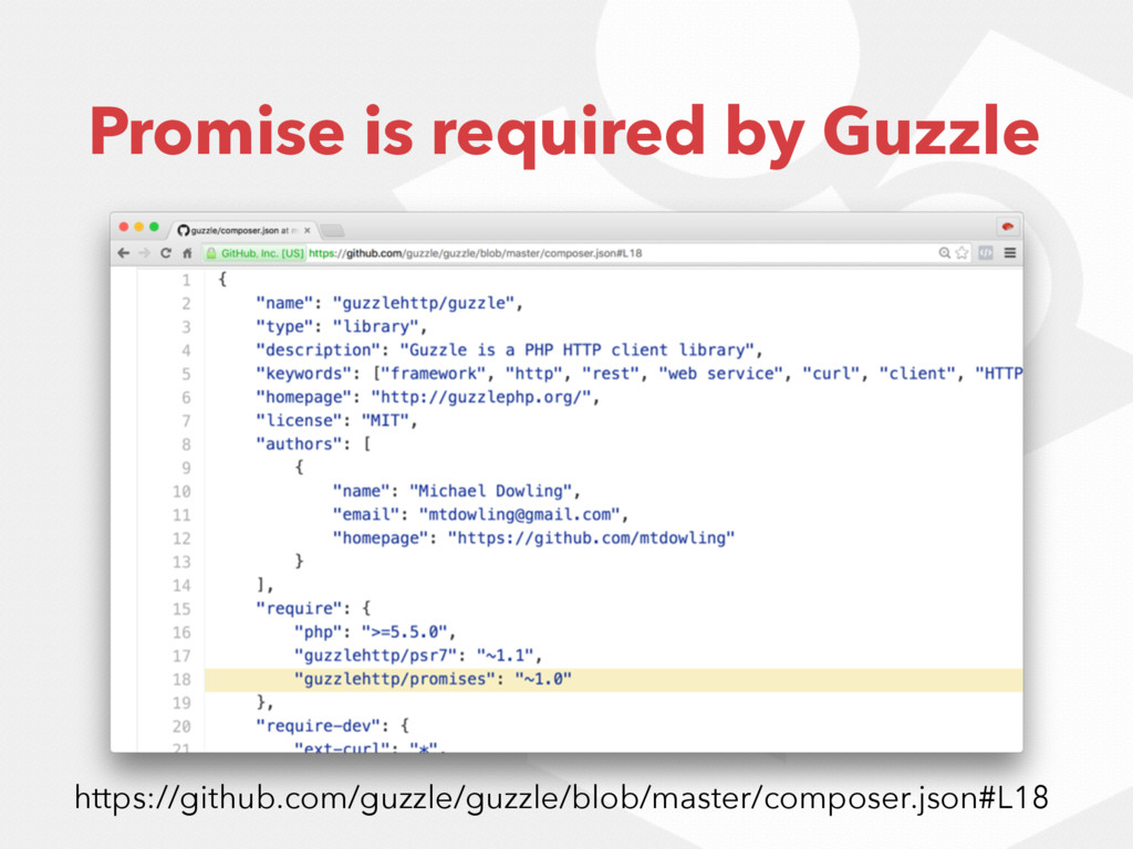 Promise is required by Guzzle https://github.co...