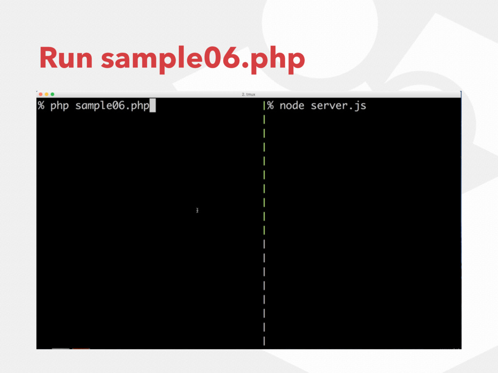 Run sample06.php