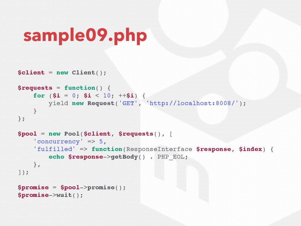 sample09.php $client = new Client(); $requests ...
