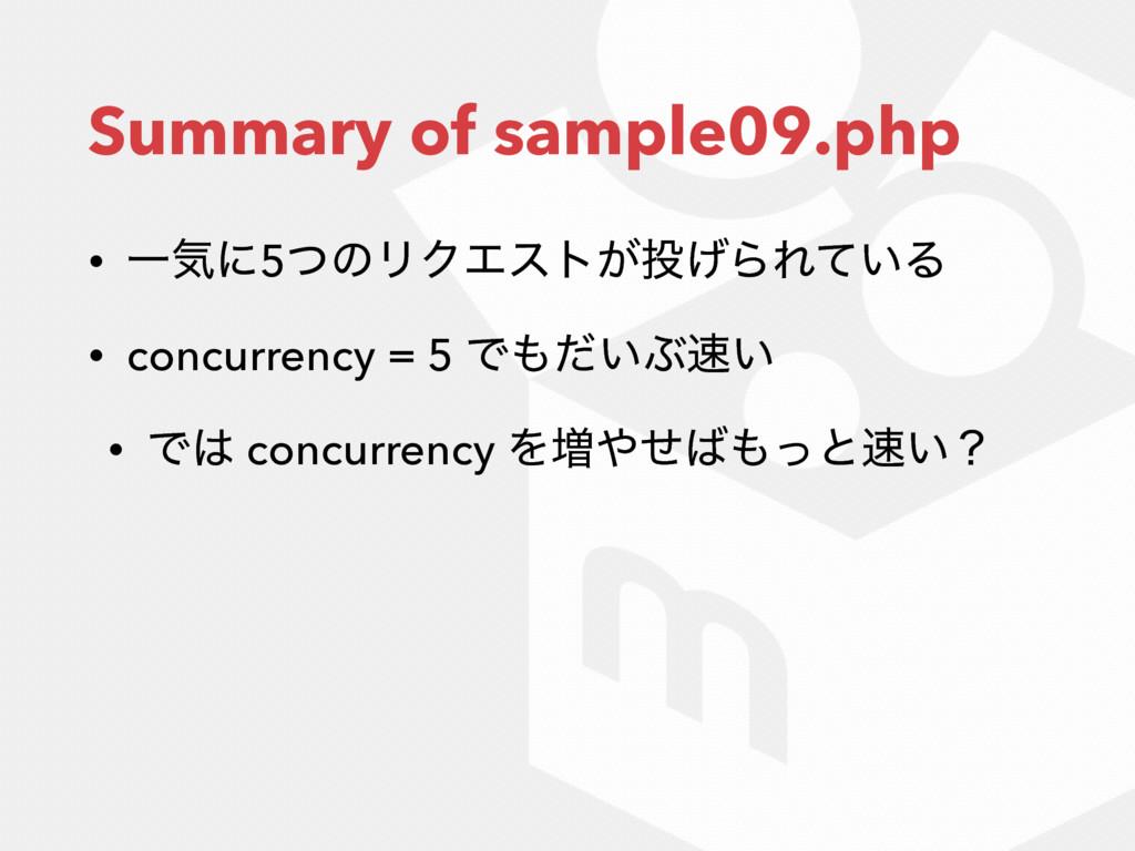 Summary of sample09.php • Ұؾʹ5ͭͷϦΫΤετ͕͛ΒΕ͍ͯΔ •...