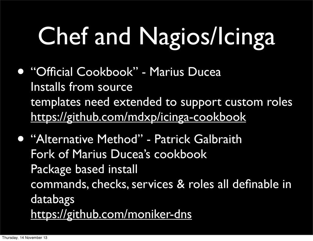 "Chef and Nagios/Icinga • ""Official Cookbook"" - M..."