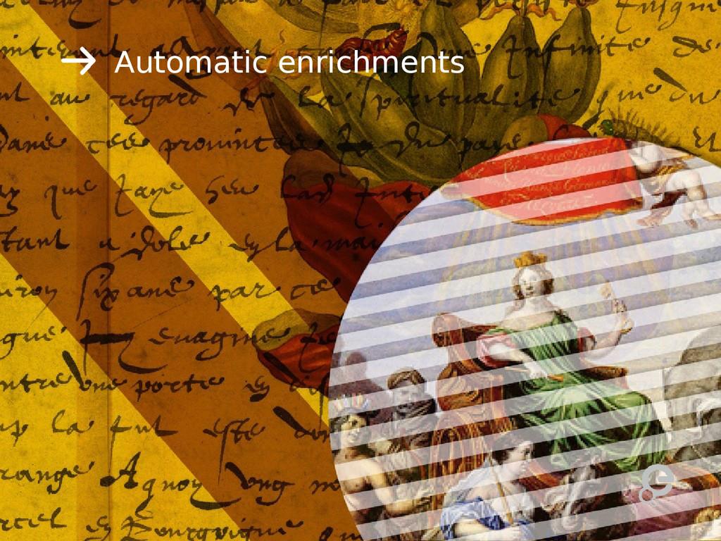 Automatic enrichments