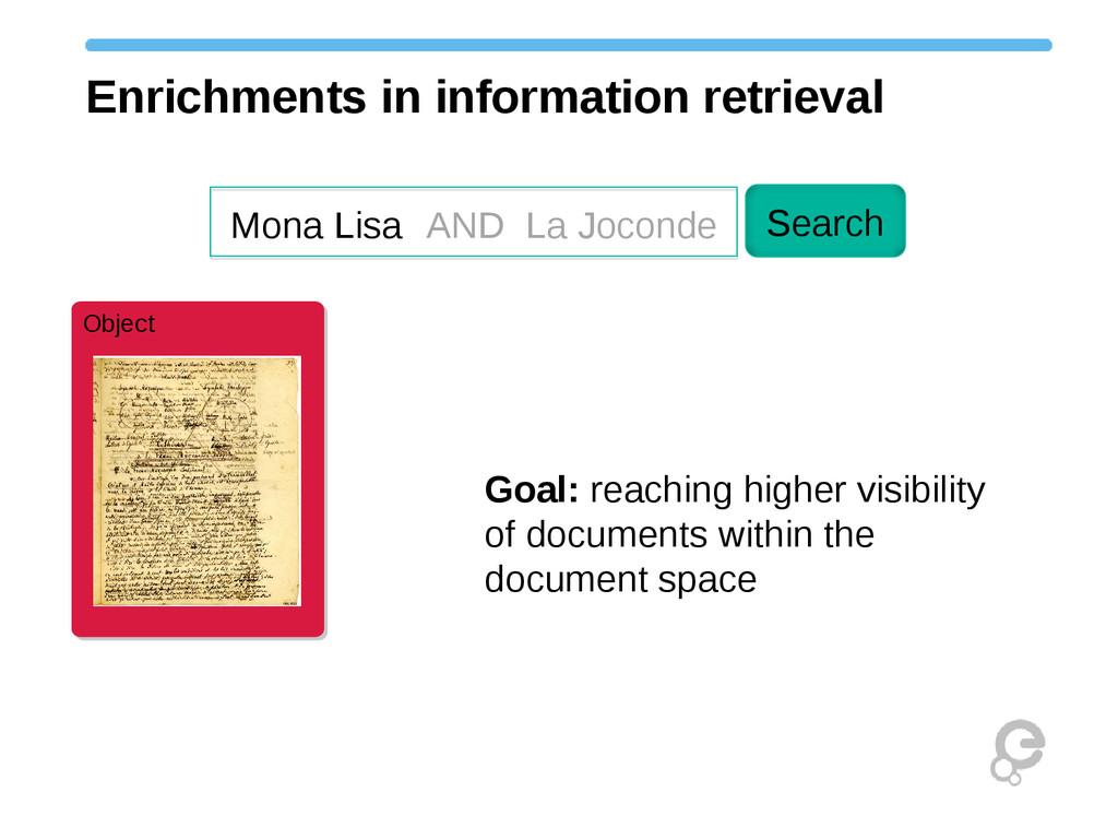 Object Object Enrichments in information retrie...