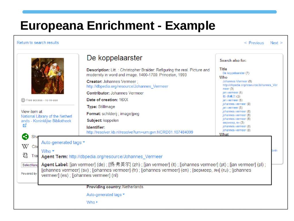 Europeana Enrichment - Example