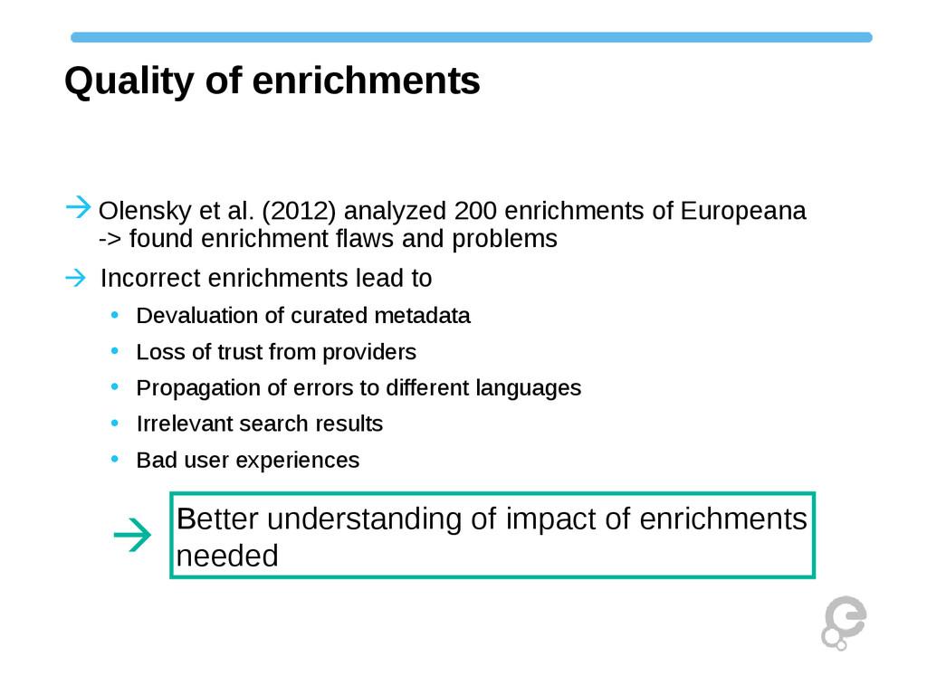 Quality of enrichments Olensky et al. (2012) a...