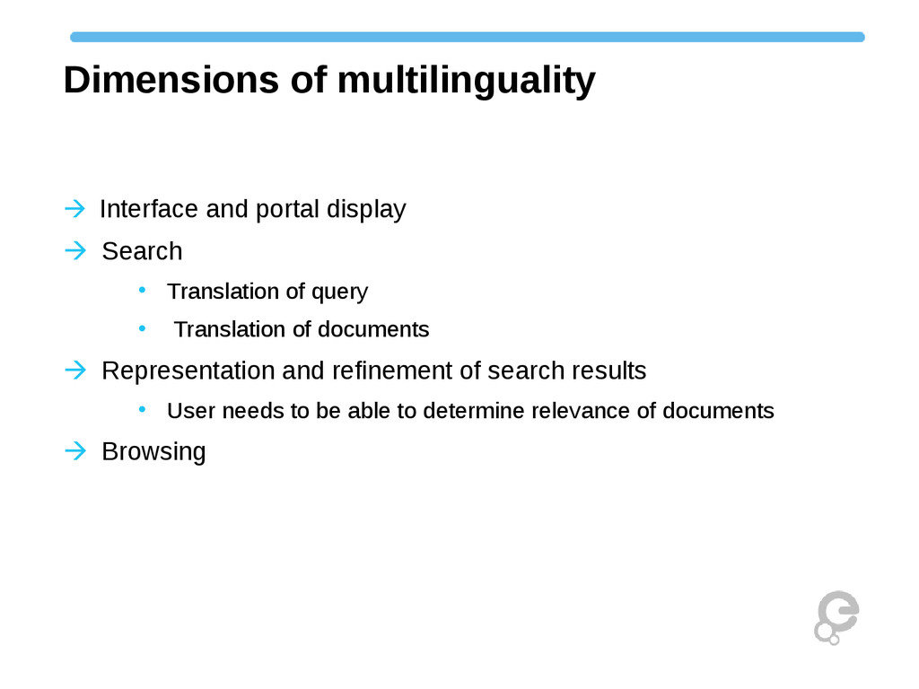 Dimensions of multilinguality Interface and p...