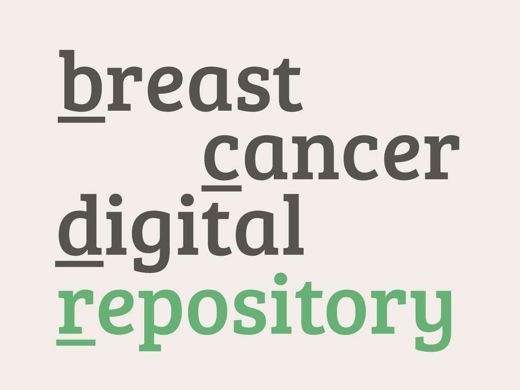 cancer digital repository breast